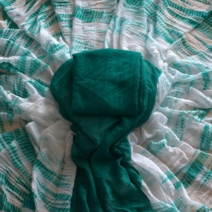 Shibori Saree- Sea Green