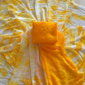 Shibori Saree- Yellow