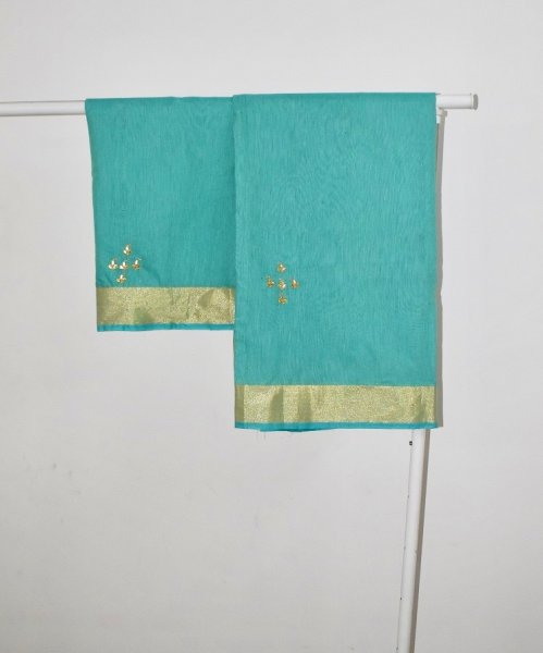 GOTA WORK SAREES- SKY BLUE