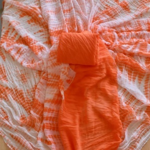 Shibori Saree- Orange