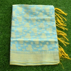 BANARASI ON CHANDERI COTTON-SKY BLUE