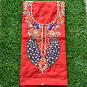 Gorgeous Chanderi Heavy Gota Patti