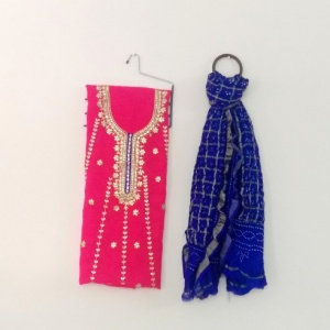 DUPATTA AND KURTA SETS (Carrot)