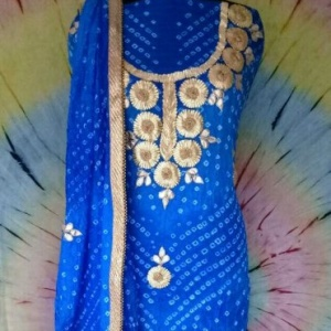 BEAUTIFUL CHARKHI GOTA WORK SUIT