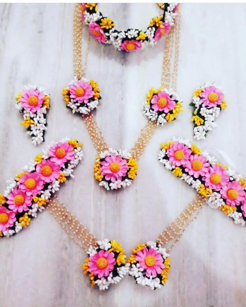 BRIDAL FLORAL SET- PINK YELLOW