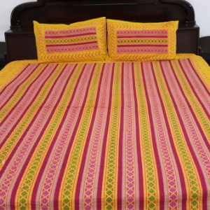 Pink and yellow with pillowcover